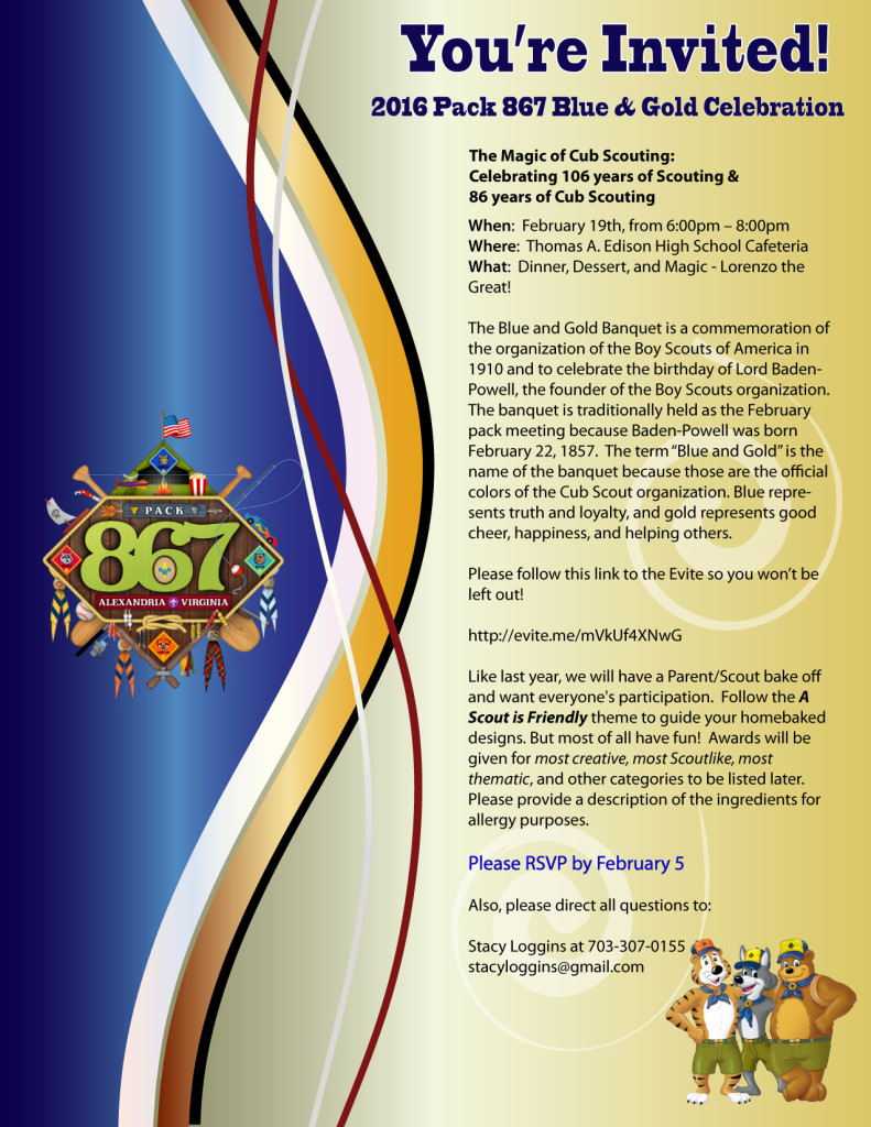 Blue and Gold Flyer 2016
